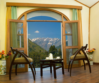 view-from-cottage-room, resorts in manali Himachal Pradesh india
