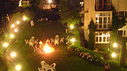 bon-fire, resorts in manali